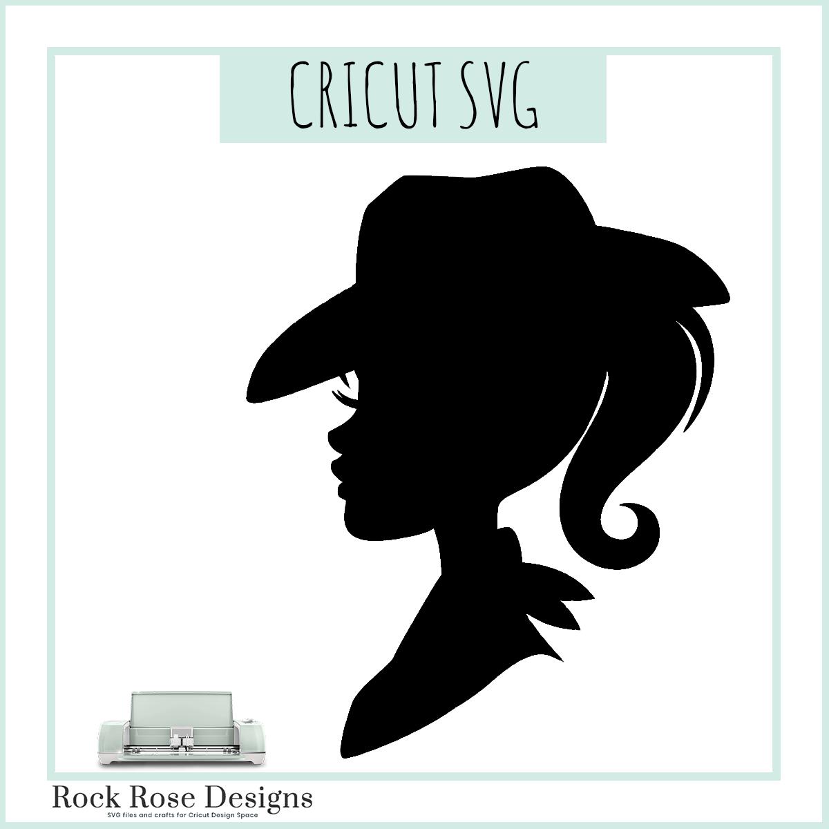 Barbie Silhouette Western Svg Cut File Rock Rose Designs