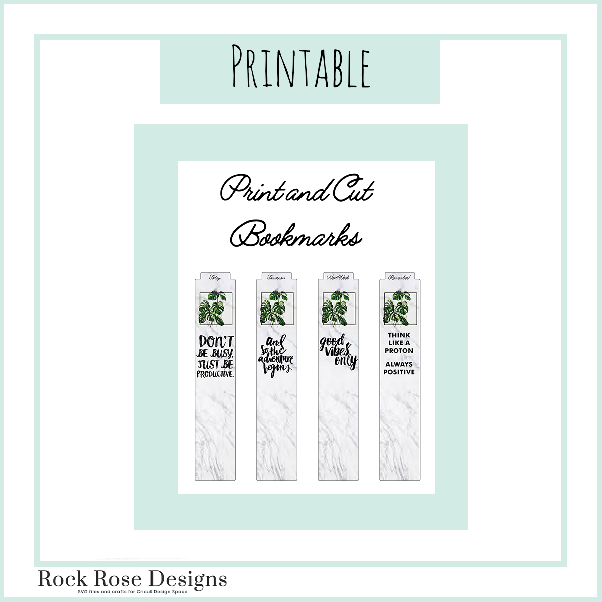 Easy Cut and Print Bookmarks!