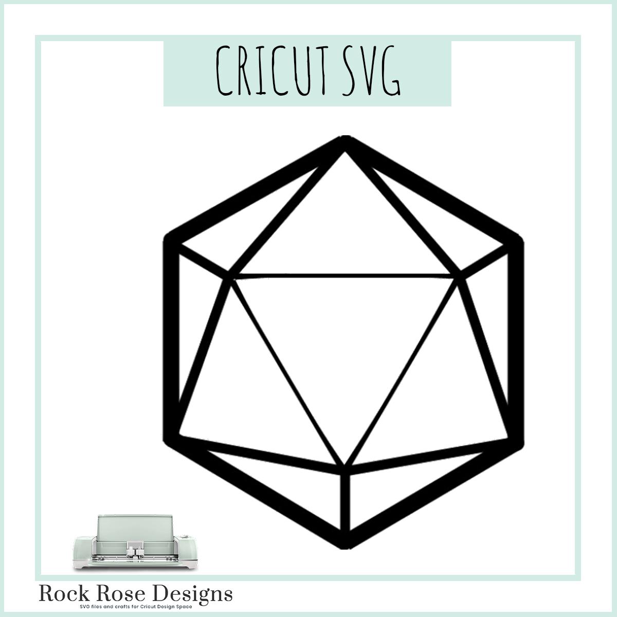 D20 Dice Svg File Rock Rose Designs