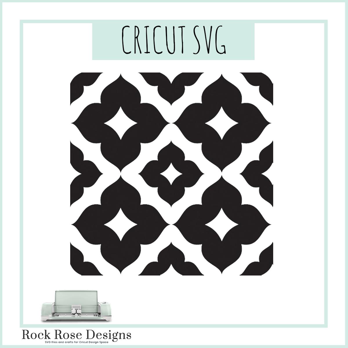 Seamless Pattern Svg Cut File Rock Rose Designs