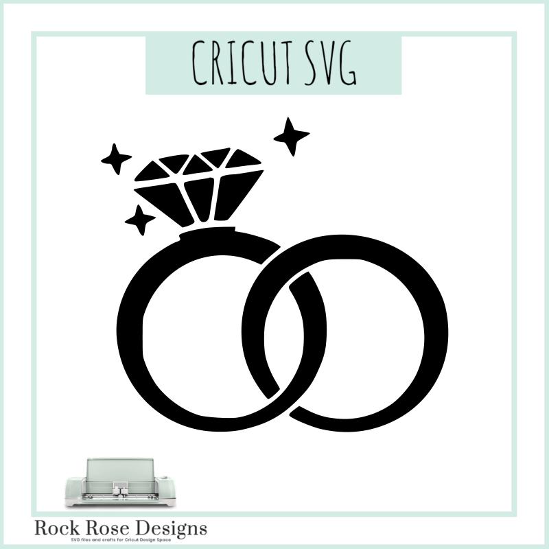 Wedding Rings – SVG CUT FILE – Rock Rose Designs
