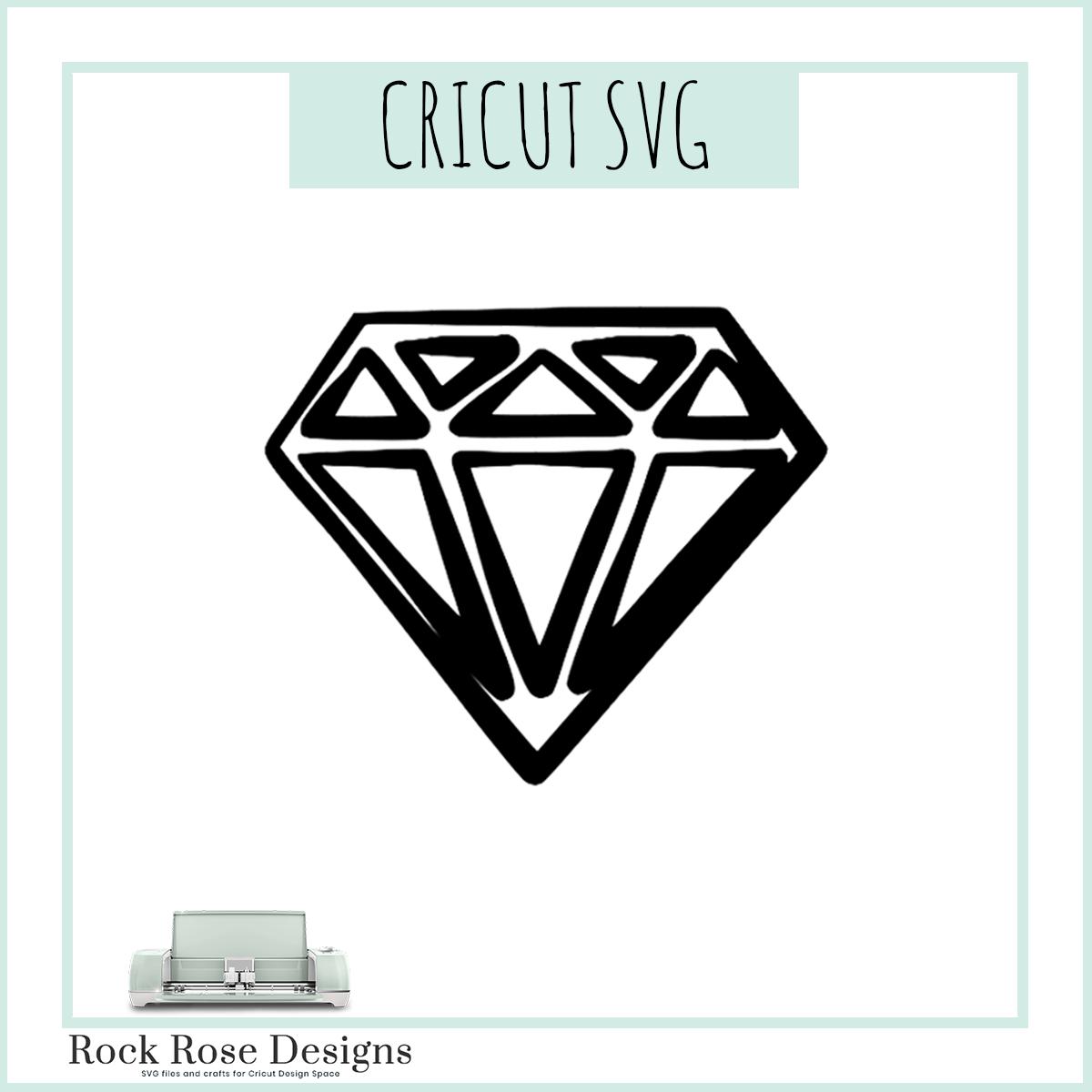 Hand Drawn Diamond Svg File Rock Rose Designs