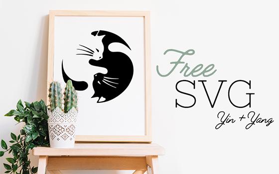 New Free Yin + Yang Cat SVG