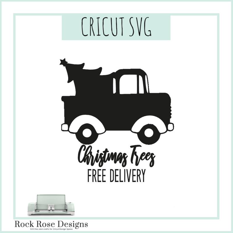 Christmas Tree Truck Svg Free.Christmas Tree Truck Svg Cut File